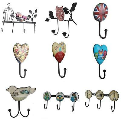 Various Vintage Wall-Mounted Towel Clothes Rope Hanging Hook Hanger Decor Holder