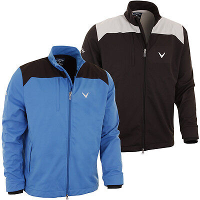 "Callaway Golf 2015 Mens Softshell Wind Jacket ""Chev Logo"" Thermal Windshirt Top"