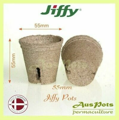 55mm Jiffy Round Pots x 100pcs - EXPRESS POST - Great for Propagation & Seedling