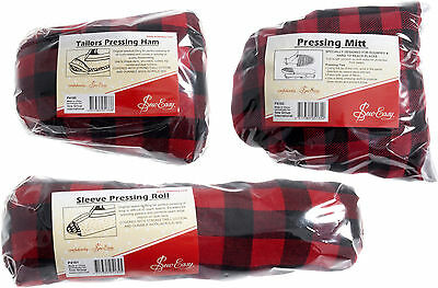 Sew Easy Tailors Pressing Ham / Pressing Mitt / Sleeve Pressing Roll Free Post!