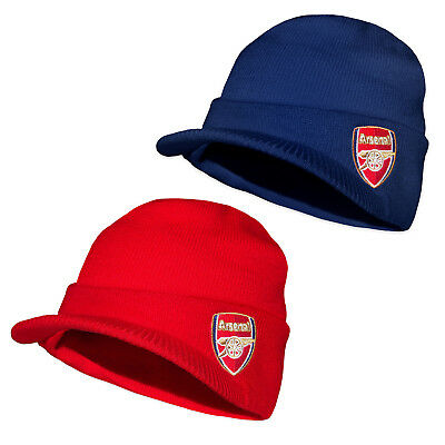 Arsenal FC Official Football Gift Adults Knitted Peaked Bronx Beanie Hat