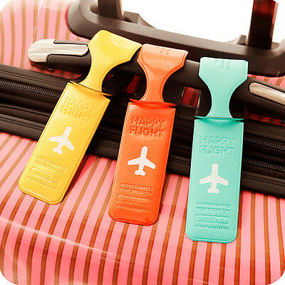 Luggage Tag Holder Striped Name Address ID Suitcase Bag Labels Travel Useful