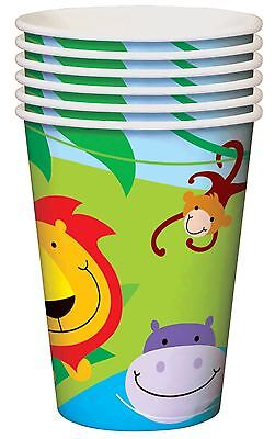 Jungle Theme 8 Cups Boy Girl Kids Childrens Birthday Party Theme Zoo Gift Juice