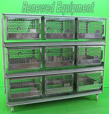 "Stainless Steel 9 Slot Rabbit Dog Cat  Cage L 83"" x W 32"" x H 72"""