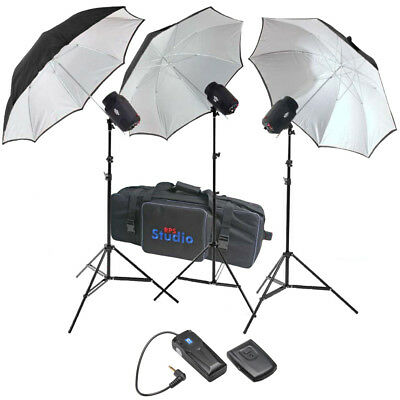 RPS Studio SB-180 540 Watt/Sec 3 Monolite Strobe Umbrellas Stand Lighting Studio