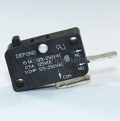 Defond DMC-1115-T Micro Switch Momentary Limit 125 VAC 15 A
