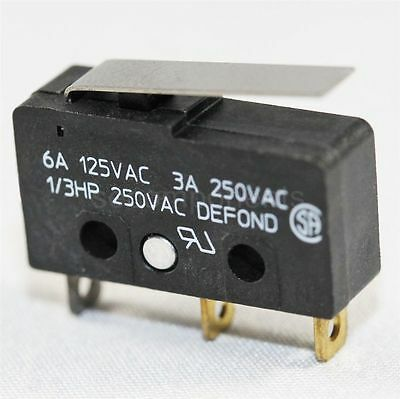 Defond DMB Series Micro Limit Switch Subminiature Momentary Lever Plunger 125 V
