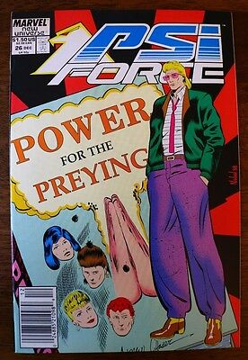 "PSI-FORCE #26 (MARVEL) NEW UNIVERSE Comics (NM) ""NICE COPY"" Books-Vintage-Old"