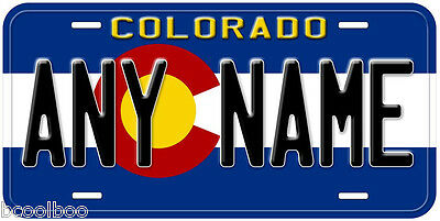 Colorado State Flag Any Text Novelty Car License Plate