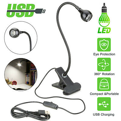 USB Flexible Reading LED Light Clip-on Beside Bed Desk Table Lamp Book Lamp New