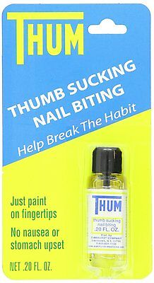 Thum Liquid Stops Thumb Sucking and Nail Biting 0.2 oz #10001 New by Oakhurst 1