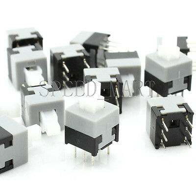 20 pcs High Quality Square Tact Push Button Switch Self-locking 6 Pins 8.5*8.5mm