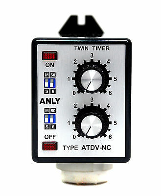 1pc Industrial Twin Timer ATDV-NC 6S 60S 6M 60M DC24V 24V ANLY Taiwan