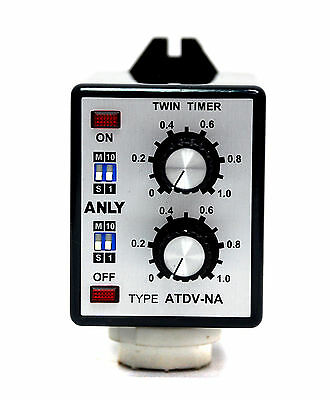 10pc Industrial DIN Timer H3D-M AC//DC 12~240Vin 1S~100Hr ANLY Taiwan