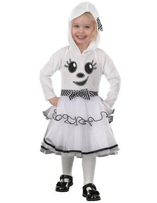 Baby Girl Fancy Dress Toddler Halloween Ghost Costume Hooded 1 To 2 Years New