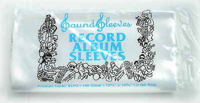 200 Plastic Outer Sleeves 3 Mil High Quality Record LP Album Covers 33 RPM Vinyl