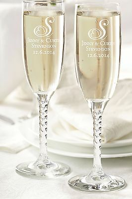Personalized Wedding Or Special Occasion Toasting Glasses-Bride-Groom-Party