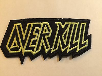 "Overkill Metal Music Band NEW Embroidered Logo Patch 3.5""x1.5"" Free Shipping"