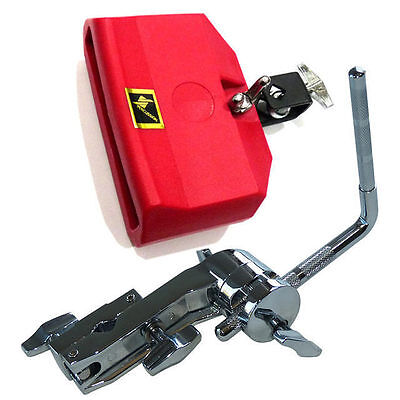 Jam Block Medium Pitch Red + Drum Kit Percussion Accessory Clamp DP Percussion
