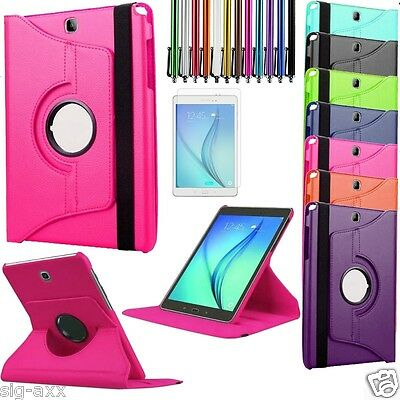 "360 Rotation Leather Stand Case Cover For New Samsung Galaxy Tab A 7"" 9.7"" 10.1"""