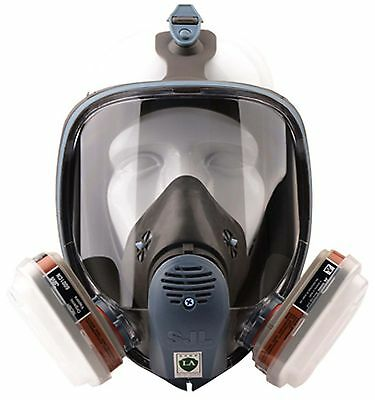 Ful Facepiece Respirator Gas Mask Reusable for Painting Spraying  3M 6800