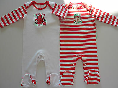 LIVERPOOL FC Pack of 2 Sleepsuits NWT