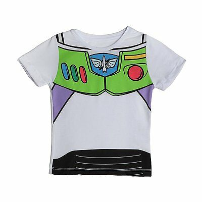 Toy Story I Am Buzz Movie Action Figure Colorful Toddler Baby Kids T Shirt 2T-5T