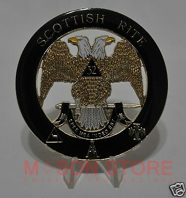 Masonic Scottish Rite Large Mason Freemason  Car Emblem