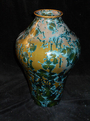 Paul Brown Porcelain Pottery, Crystalline Glaze, Hand Thrown VASE,  Fine Art