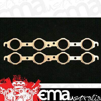 "Sce Pro Copper Embossed Exhaust Gaskets Sce-4119 Suit Chev Ls1, Ls7 1.750"" Round"