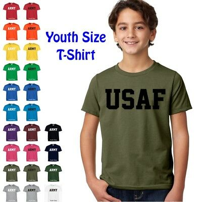 USAF Air Force Kids Boys Girls T Shirt Child Children YOUTH FIT Tee T Shirt