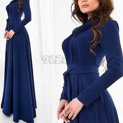 Women Ladies Sexy Long Sleeve Cocktail Maxi Long Evening Party Dresses SP2G