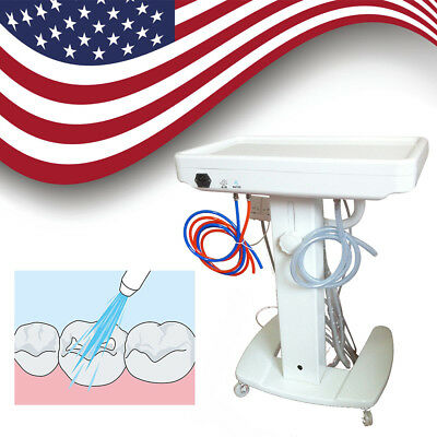 Dental Portable Unit Delivery Mobile Cart Handpiece ultrasonic scaler No suction
