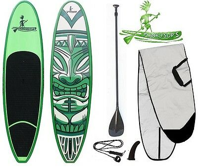 Stand up paddle board 'Cheky Tiki' 10' 10'6 11'2 FUNKY Sup Package Carbon Paddle