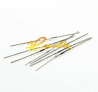 100pcs MKA-14103 SILVER Tone Leads Glass N/O SPST Reed Switches 10-15AT 2 x 14mm