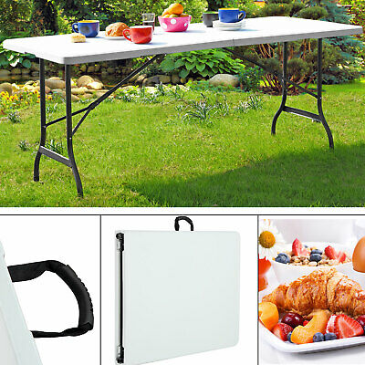 Table pliable Camping Portable Réception Buffet Jardin 183 cm Table d'appoint