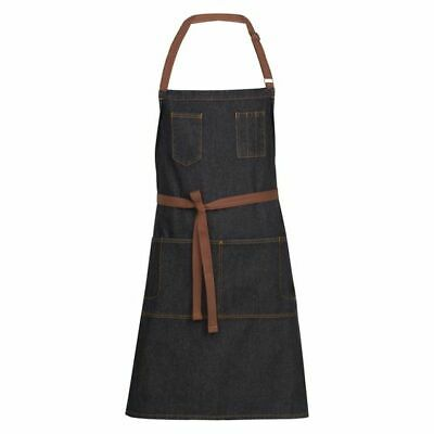 NEW Chef Works Memphis Bib Apron in Black, Purple