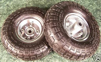 "2pc 10"" inch Air Inflatable RUBBER WHEELS with Rim Dolly Tire wheel NEW"