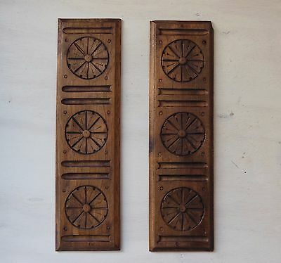 ANTIQUE FRENCH CARVED  WOOD PANEL x 2 Small • CAD $62.94