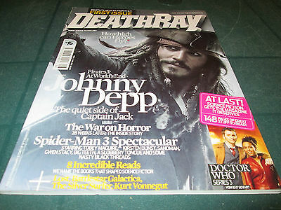Deathray Magazine June 2007 Issue No.1 Johnny Depp Doctor Who Spiderman 3