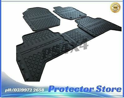 Ford Ranger PX 2012-2016 Dual Cab Rubber Floor Mats Front & Rear New