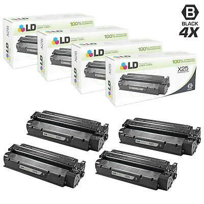 LD Remanufactured Canon X25 / 8489A001AA Set of 4 Black Toner Cartridges