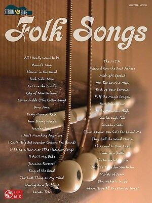 Strum & Sing - Folk Songs Guitar Book *NEW* Sheet Music, 39 Songs, Favourites