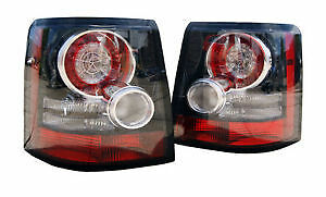 Pair Of Range Rover Sport Rear LED Tail Lights Lamps OEM Style Black Inserts