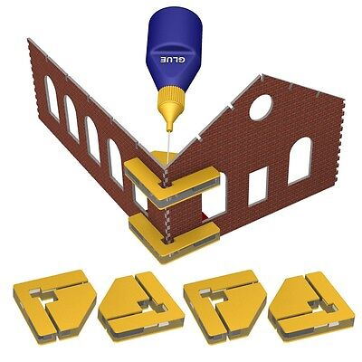 Bachmann Train Magnetic Snap & Glue Set (4 Magnetic Clamps W/16 Magnets) 39009