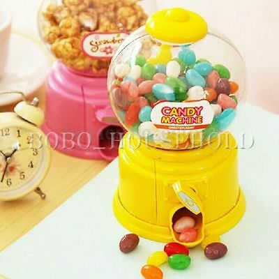 Mini Candy Machine Dispenser Gumball Vending Machine Coin Box Gift Kid Baby Toy