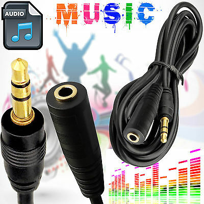 3.5mm AUX Stereo Audio Cable Male to Female 5M iPod MP4 Headphone Extension Cord