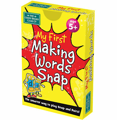 BrainBox My First Making Words Snap Card Game Educational English Alphabet