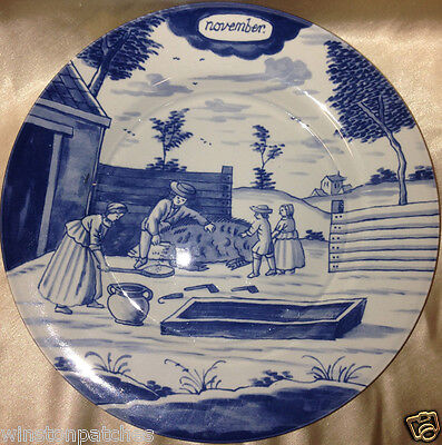 """Delft Holland Metropolitan Museum Of Art Month Of The Year November Plate 9"""" Mma"""