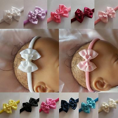 Baby Girls Bow Headband Hairband Soft Elastic Hair Accessories One Size Fits All